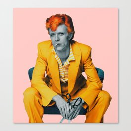 pinky bowie 2 Canvas Print