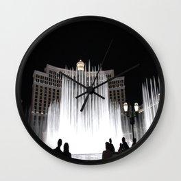 Nighttime at the Belagio Fountain, Las Vegas, Nevada Wall Clock