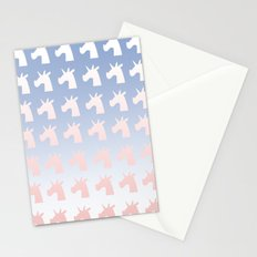 New Year, Colors, Unicorns Stationery Cards