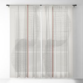 Geometric Composition II Sheer Curtain