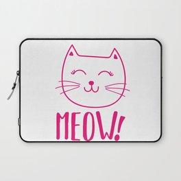 Sweet MEOW Cat Kitten Gift Idea Animal Love Laptop Sleeve