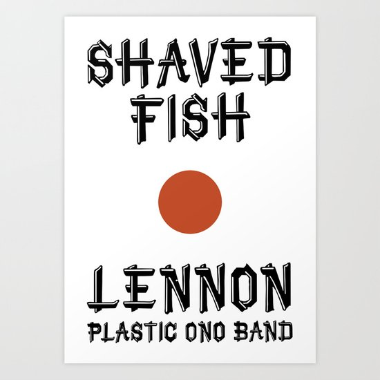 Shaved fish Art Print