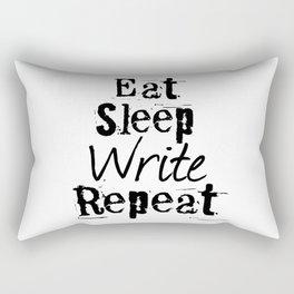 Eat Sleep Write Repeat Rectangular Pillow