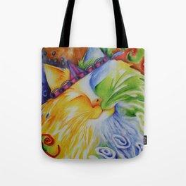Cat Abstract Original Art Tote Bag