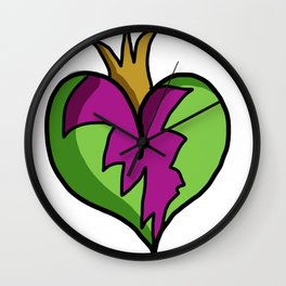 Crowned Heart Wall Clock