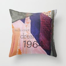 Technicolor Dreams Throw Pillow