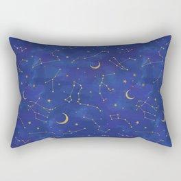 Gold Starlight Rectangular Pillow