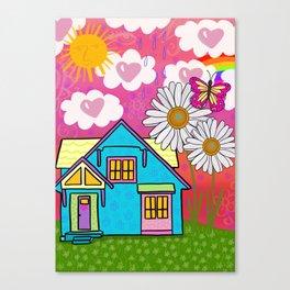 Heart House Canvas Print