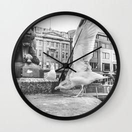 Seagull in Dublin Wall Clock
