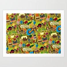 C Pattern Art Print