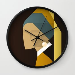 Painted Girls #3 Wall Clock