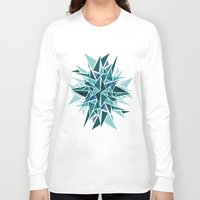 cracked Long Sleeve T-shirts featuring Cracked Icicles by AJJ ▲ Angela Jane Johnston