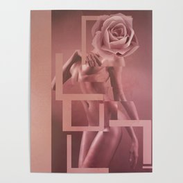 Pink woman Poster