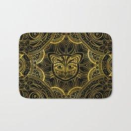 Gold Framed  Mandala Cat Bath Mat