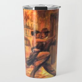Couple dancing tango in Buenos Aires Travel Mug