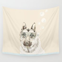 Diver Dog Wall Tapestry