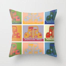Pontiac 1935 9 times pop art style Throw Pillow