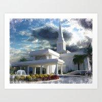 Orlando Florida LDS Temple Art Print