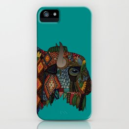 bison teal iPhone Case