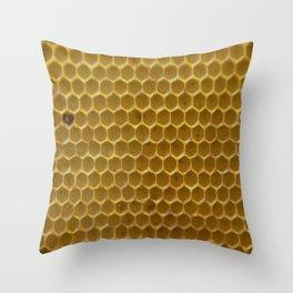 Bees work - Ruche d'abeille - #animal Throw Pillow