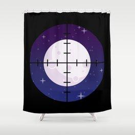 Aim for the Moon Shower Curtain
