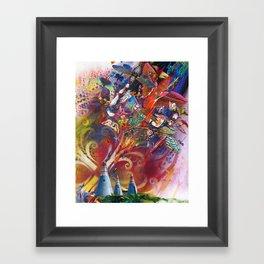 Plague of Locusts Framed Art Print