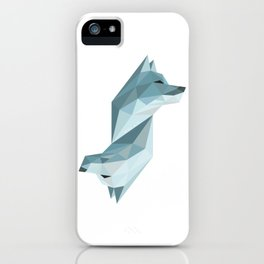 Geometric Wolf iPhone Case