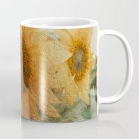 sunflower Mugs featuring sunflower by VanessaGF