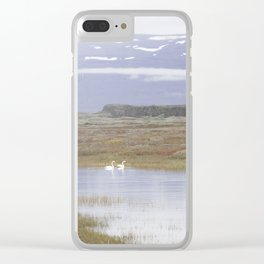 Swans of Iceland Clear iPhone Case