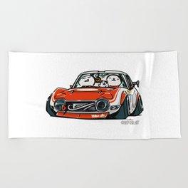 Crazy Car Art 0136 Beach Towel