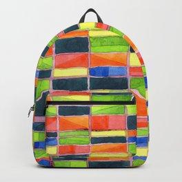 Warm Spring Time Grid Backpack