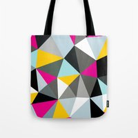 comic book Tote Bags featuring Comic Book Tris by Beth Thompson
