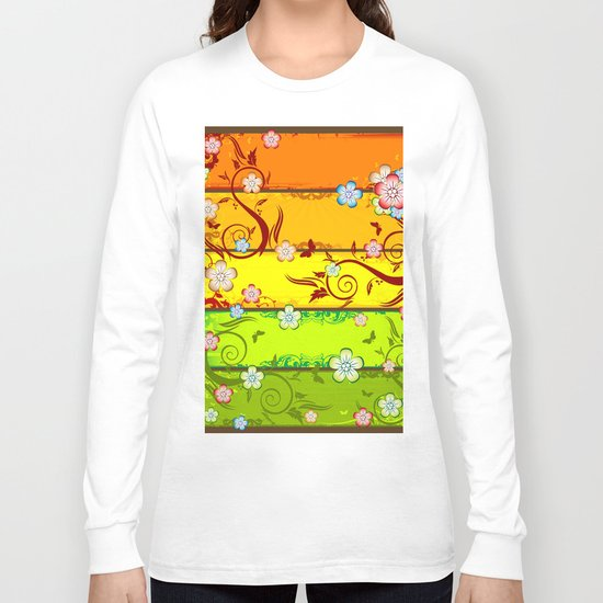 Colorful Florals Long Sleeve T-shirt