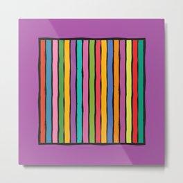 dp203-9 Colorful Stripes Metal Print