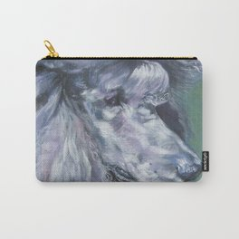 silver POODLE dog art portrait from an original painting by L.A.Shepard Carry-All Pouch