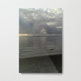 The start and end of the rain comes. Metal Print