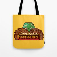 magic the gathering Tote Bags featuring Everyday I'm Shuffling  |  Magic The Gathering by Silvio Ledbetter