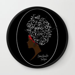 I won't let your ignorance silence my pain. Children of Blood and Bone Wall Clock