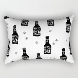 There's always hope beer bottle hop love monochrome Rectangular Pillow