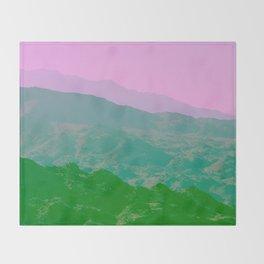 Palm Springs Mountains IV Throw Blanket