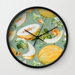 Honeydew Melon Pattern Wall Clock