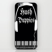 puppies iPhone & iPod Skins featuring Hush Puppies by Mike Semler