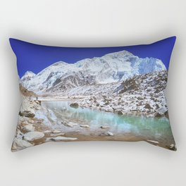 Mount Nuptse view and Mountain landscape view in Sagarmatha National Park, Nepal Himalaya. Rectangular Pillow