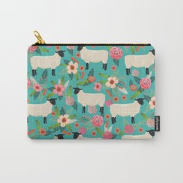 Suffolk Sheep farm floral cute animals sheep lover nature florals pattern homestead gifts Carry-All Pouch