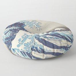 HD Original Great Wave Off Kanagawa Floor Pillow