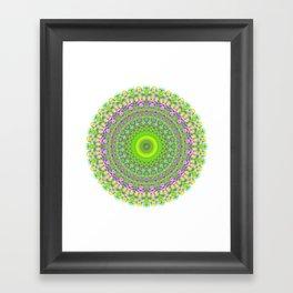Snowflake #002 transparent Framed Art Print