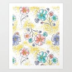 Brilliant Blooms Art Print