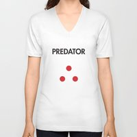 predator V-neck T-shirts featuring Predator  by NotThatMikeMyers