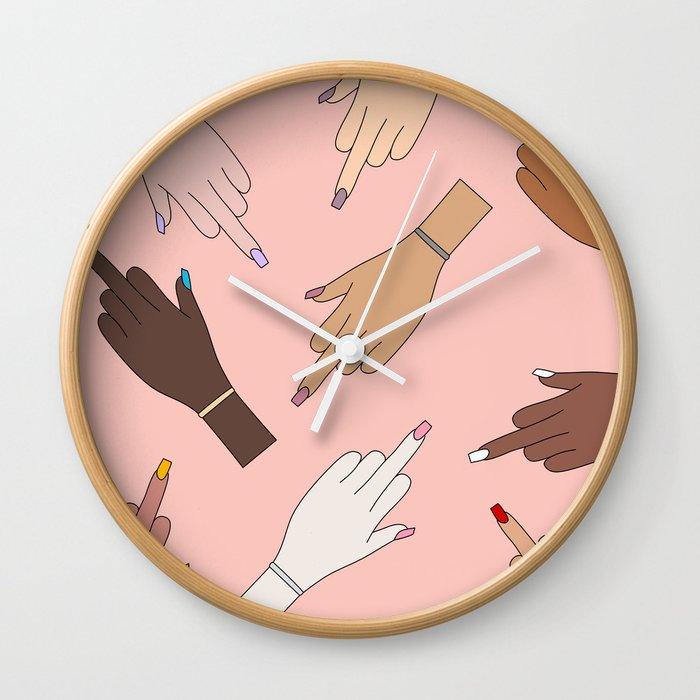 Worldwide Babes Wall Clock