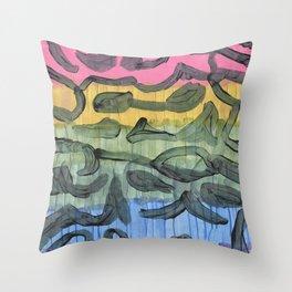 Clouded Rainbow Throw Pillow